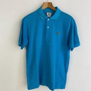 LACOSTE Bright Blue Crocodile Emb. Polo T - Shirt